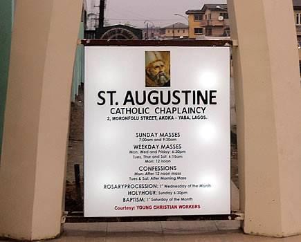 St. Augustine Catholic Chaplaincy, Akoka